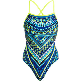 Funkita Strapped In One Piece Swimsuit Dames, ice queen
